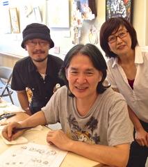 左から早瀬先生、倉田先生、私
